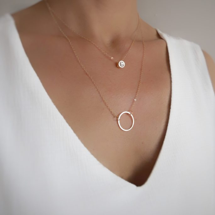 collier multirangs cercle