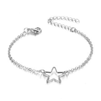 bracelet etoile argente