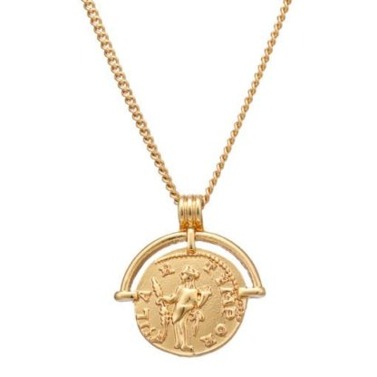 collier fin medaille