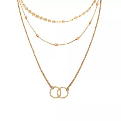 collier trois rangs dore
