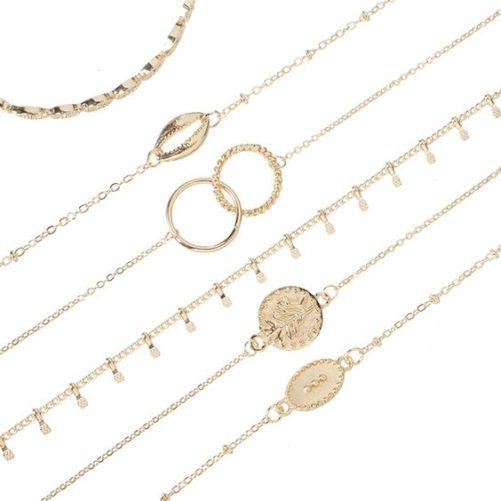 Bracelet anneaux entrelaces femme