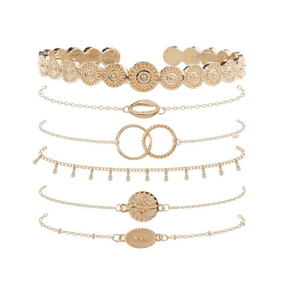 Bracelet anneaux entrelaces