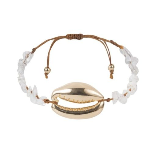 bracelet coquillage cordon