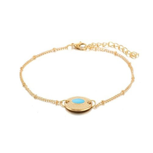 bracelet medaille turquoise