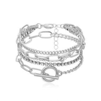 bracelets tendance argentes