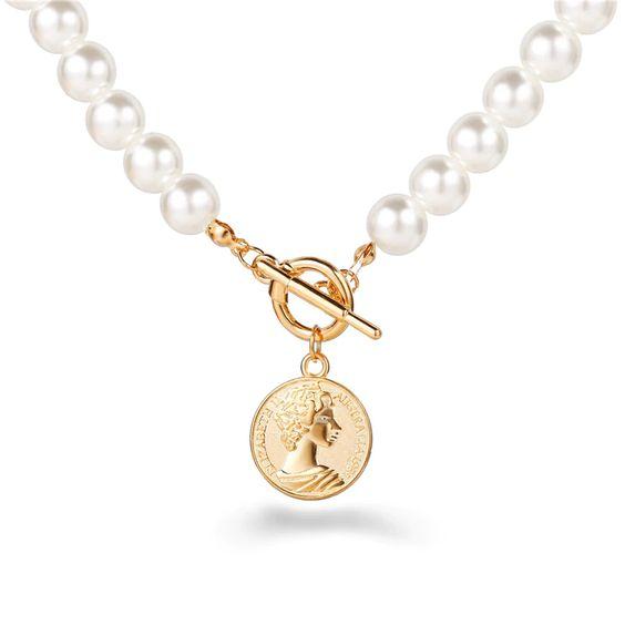 collier fantaisie perles tendance