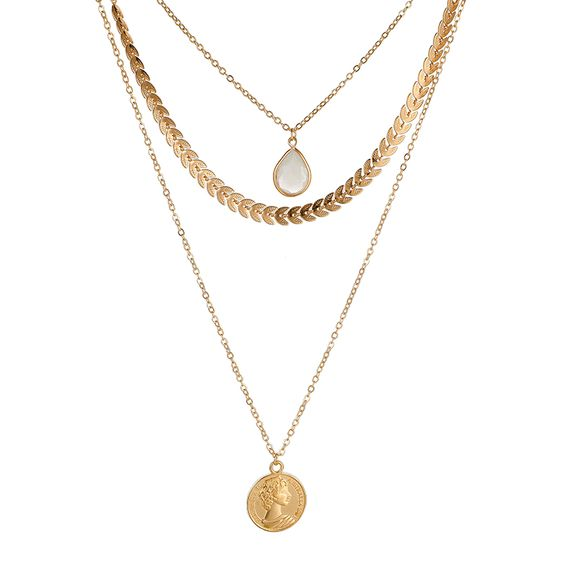 collier multirangs tendance hiver