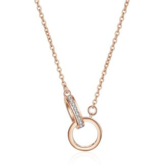 collier cercles entrelaces rose gold