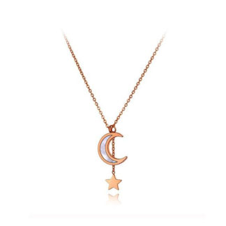 collier fantaisie lune original
