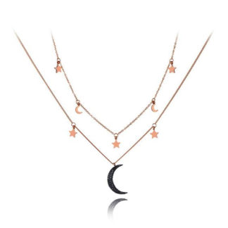 collier femme lune