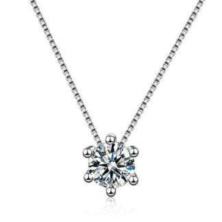 collier solitaire zirconium