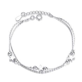 Bracelet bille etoile argent