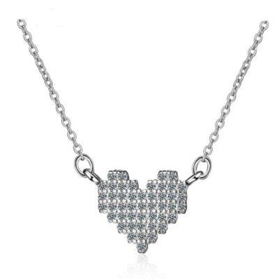 bijoux fantaisie collier coeur