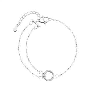 bracelet fin cercle strass