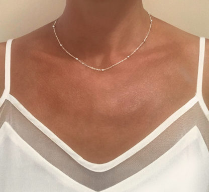collier chaine perlee cadeau femme