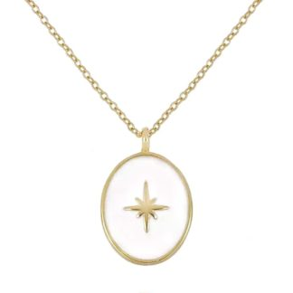 collier medaille ovale etoile