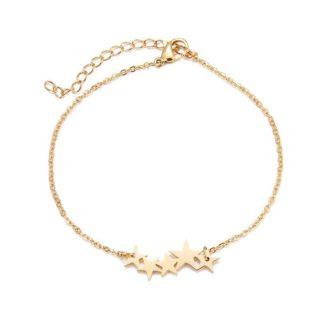 bracelet etoiles plaque or